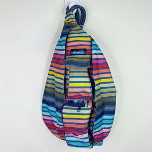 Kavu Chroma Rainbow Stripe Rope Sling Handbag Bag